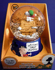 NIB Snoopy Peanuts Charlie Brown Halloween Musical Snow Motion Globe Figure