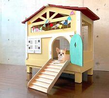 Rabbit hutch pet house wood indoor cute clean rabbit puppy cat ferret convenient