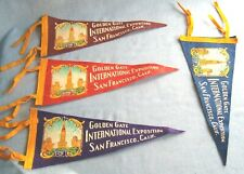 Vintage 1939 Golden Gate International Exposition Pennant Flag