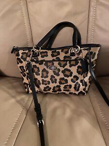 Coach Leather Shoulder Bag, Ocelot Ellis Leopard Print