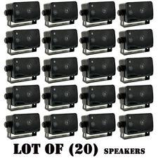 "Lot of (20) Pyramid 2022SX 3.75"" 200W 3-Way Car Audio Mini Box / Home Speakers"