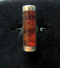 Desert Rose Trading Amber Silver Ring size 8.5 Jay King