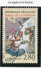 STAMP / TIMBRE FRANCE OBLITERE N° 2958 JEAN DE LAFONTAINE