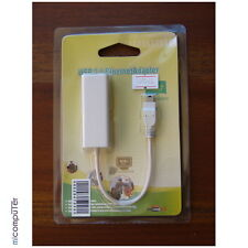 Adaptor miniUSB a Ethernet, RJ45, para Tablets Android, Mac, Linux y Windows