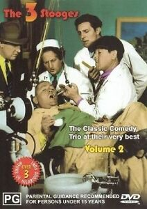 The Three Stooges: The Classic Comedy Trio At Their Very Best: Volume 2 R2,4 PAL