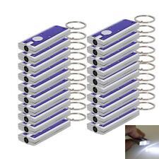 LOT20 Super Bright Light LED Flashlight KeyRing Keychain Lamp Camping Light