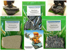 Bargain -Slate Basing Kit For Warhammer Fantasy Armies Figures- Orcs & Goblins