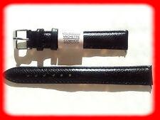 BRACELET MONTRE CUIR VACHETTE DOUBLÉ VACHETTE/* NOIR /* 16 mm LONG REF.E119