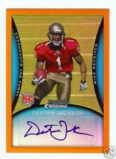 2008 BOWMAN CHROME ORANGE REFRACTOR DEXTER JACKSON RC AUTO #01/15 - BONUS BLUE