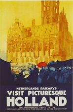 1930's Dutch Railways Picturesque Holland Travel Poster  A3 Reprint