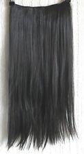 """5 clips de marrón muy oscuro recto de una pieza 22"""" de largo de extensión de cabello enganchables 1"""