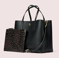 Kate Spade Molly Meadow Medium Leather Satchel Crossbody ~NWT~ Black
