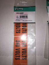 Panduit Pcv 240by Voltage Marker Vinyl 240v Voltage Cd 240 Volts Pk5