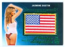 "JASMINE DUSTIN ""PLEDGE OF ALLEGIANCE FLAG #2/3"" BENCHWARMER 25TH ANNIVERSARY"