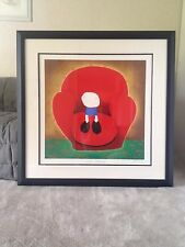 """Mackenzie Thorpe""""Love Seated"""" Framed Serigraph On Paper (REM), Limited Edition"""
