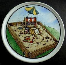 Gary Patterson Crazy Cat Lady Cat Sunning In The Sandbox Heavy Ceramic Coaster
