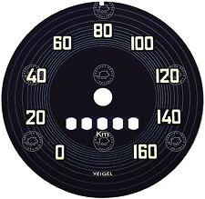 PORSCHE 356 pre a 1950 a 1952 Veigel Tachimetro Quadrante Concours replica di qualità