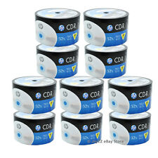 500 Pack HP Logo Brand Blank CDR CD-R 52X Recordable Disc Media 80 min Wholesale