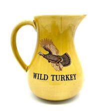 Wild Turkey whiskey vintage pitcher Staffordshire pottery made  England pottery