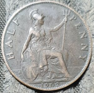 1902 Great Britain Halfpenny
