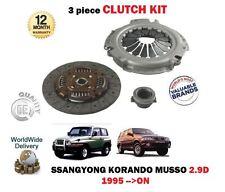 Pour ssangyong korando musso 2.9D diesel OM662 1995-1999 new clutch kit 3 pièces