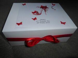 21st Keepsake Box Large Personalised Memory 18th 30th 40th 50th Bridesmaid