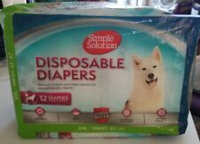 Simple Solution 12 Disposable Dog Diapers for Female Dogs | Super Absorbent XXL