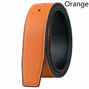 Genuine Leather No Buckle For H 38mm Replacement Belt Men's Strap Belt New