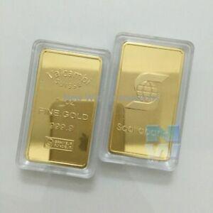 3pcs 1 Oz Fake 24ct Gold Bar High Quality Replica Bullion Bars Prop Scotiabank