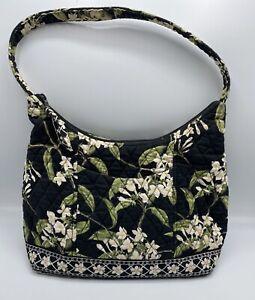 Vera Bradley Purse Black Floral Jasmine Pattern Retired 2003 Shoulder Bag V6