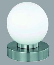 Touchtronik Nachttisch LeuchteTischleuchte weiß Kugel Lampe E14  .#2667