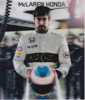 Fernando Alonso Un Signed Formula 1 McLaren Honda Promo Card F1.