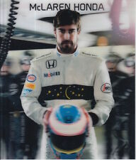 Fernando Alonso ONU firmato Formula 1 McLaren Honda PROMO CARD F1.