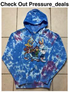 Looney Tunes Camo Blue Sweatshirt Hoodie Bugs Bunny Unisex Mens Small