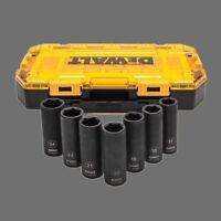 DEWALT DWMT74737 Tough Box 7PC Metric 1/2 Deep Drive Impact Socket Set