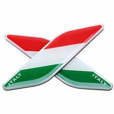 2x Italy Flag Badge Italian Emblem Sticker Decal For Fiat Maserati Lancia Benz