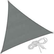 Voile d'ombrage protection UV solaire toile tendue parasol triangulaire gris