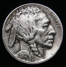 1919-S Buffalo Nickel, Full Horn! Tough Date AU+