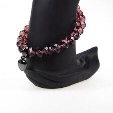 Fiorelli Drop Heart Charm Burgundy Red Glass Womens Ladies Bracelet
