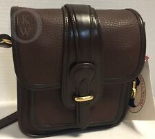 NWT~VINTAGE~Dooney & Bourke*P124* Brown/BN Trim *Binocular Bag*Crossbody*18169K