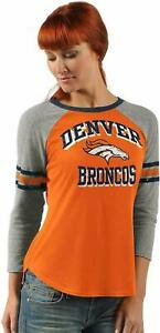G-III 4her Denver Broncos Women's On The Field 3/4 Sleeve Raglan Shirt