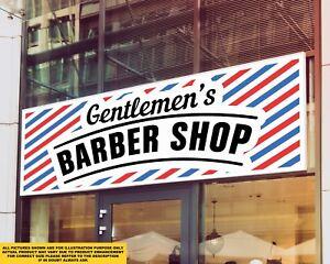 Gentelmen's Barber Shop Signage Colour Sign Printed Heavy Duty 4178