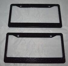 2 Black Bling Glitter Crystal RhineStone License Plate Frame Car Auto