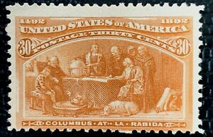 1893 US SC#239 30c Columbus Soliciting Aid from Queen Mint CV:$225