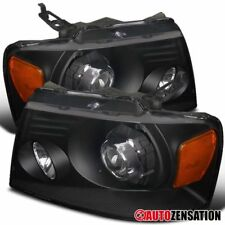 2004-2008 Ford F-150 2006-2008 Mark LT Retrofit Style Black Projector Headlights