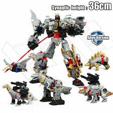 5in1 Transformers G1 Dinoking Volcanicus Grimlock Dinobot Oversized Figure Toys