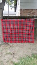 """Red Green Blue Christmas Plaid Rectangle 70""""X45"""" Tablecloth Free Shipping"""