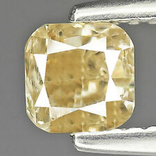 0.77Cts Yellow Cushion 100% Natural Diamond Outstanding Luster ✯Clearance Sale✯