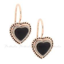 Onyx Rose Gold Fashion Earrings