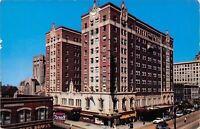 Gary Indiana~Gary Hotel~Hoosier Grill~Sand Bar~Rexall~1950s Cars~Postcard